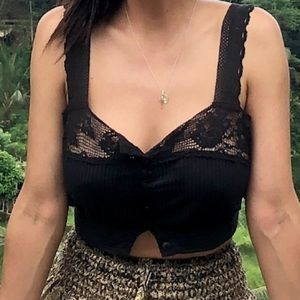 Urban outfitters black crop top